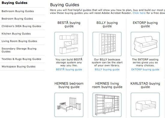 Guía de compra de IKEA