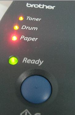 luces de la impresora