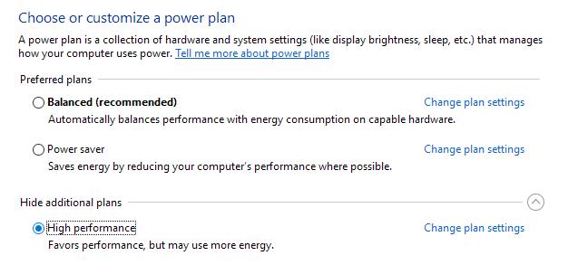 plan de alto rendimiento