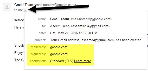 gmail mostrar detalles