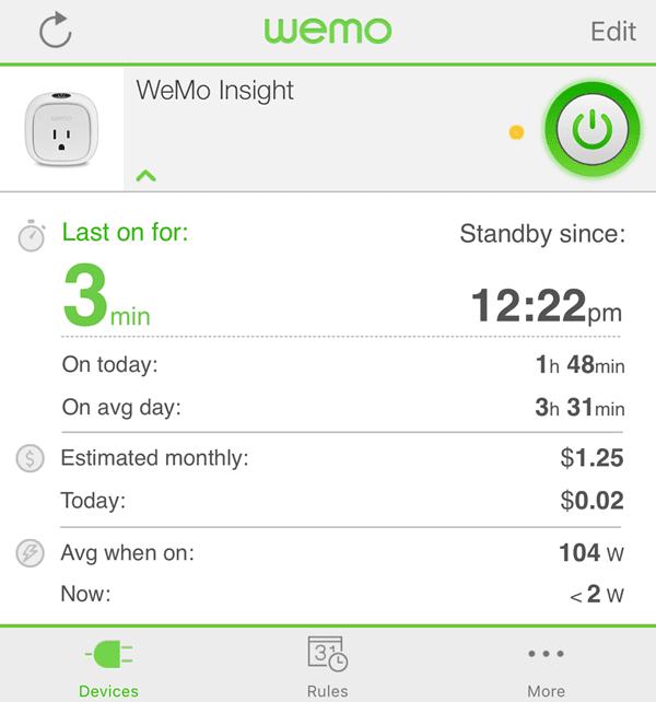 Cómo exportar datos de uso de energía de WeMo a Excel