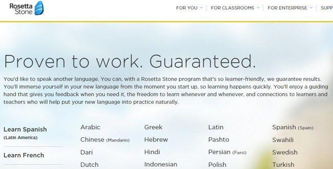 4 alternativas gratuitas / más baratas a Rosetta Stone