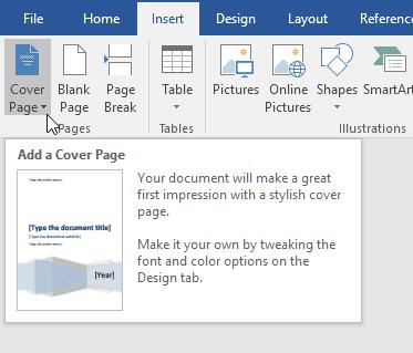 Agregar una portada a un documento de Word
