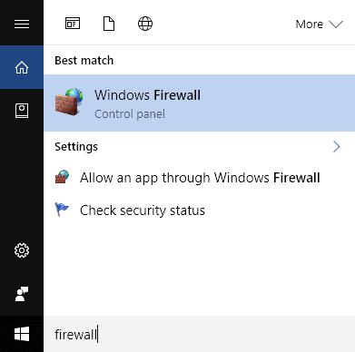 Ajustar las reglas y la configuración del firewall de Windows 10
