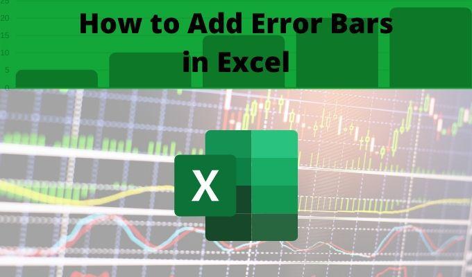 Cómo agregar barras de error en Excel
