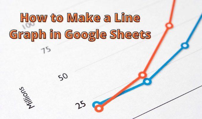 Cómo crear un gráfico de líneas en Google Sheets