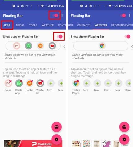 Cómo crear una barra flotante con sus aplicaciones favoritas de Android