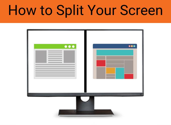 Cómo dividir la pantalla / monitor de su computadora portátil o PC en Windows