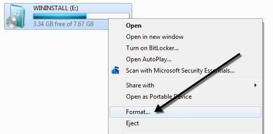 Cómo formatear una unidad USB y una unidad USB con NTFS