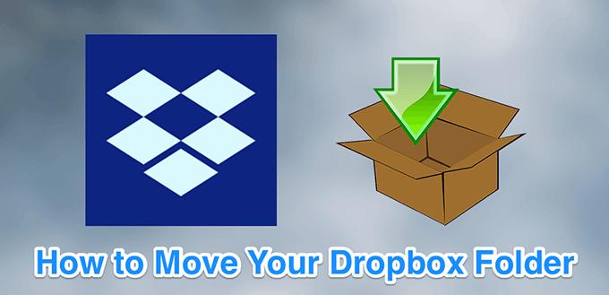 Cómo mover tu carpeta de Dropbox