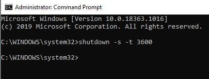 Cree rápidamente un temporizador de suspensión en Windows 10