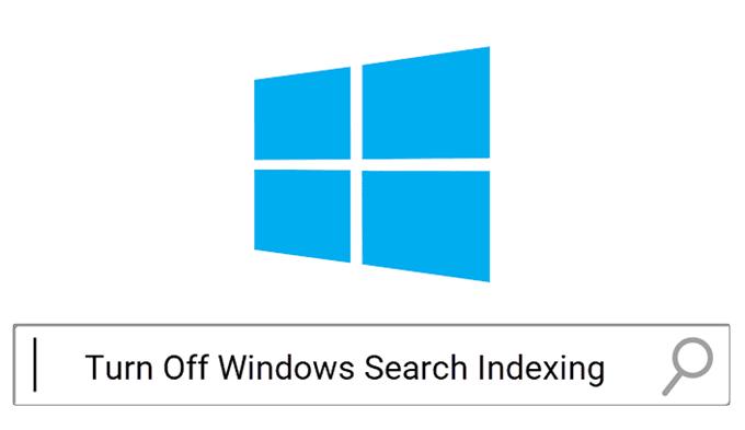 Deshabilite la indexación en Windows para un mejor rendimiento