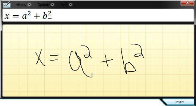 El accesorio más geek de Windows: el panel de entrada matemática