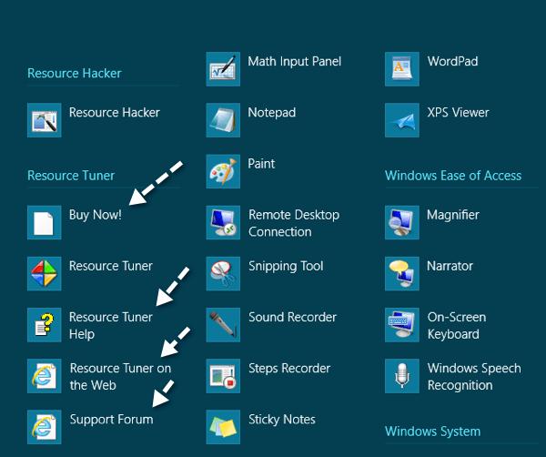 Eliminar programas de la pantalla Todas las aplicaciones en Windows 8