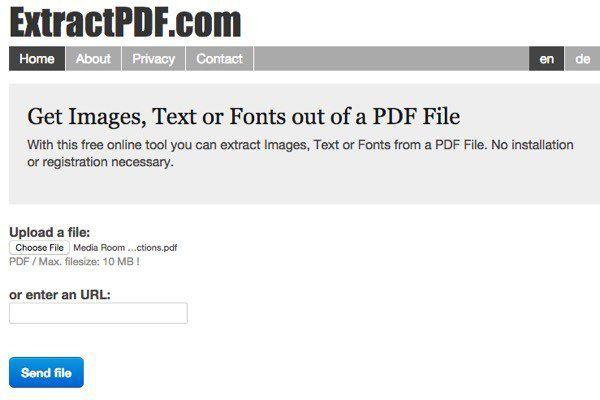 Extraiga texto de archivos PDF y de imagen