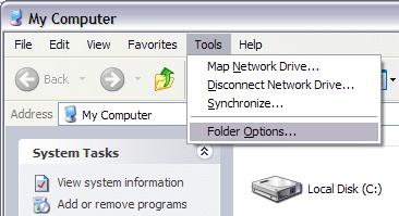 Ocultar archivos y carpetas en Windows (fácilmente pirateado)
