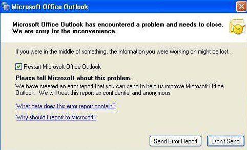 Reparar Microsoft Outlook ha encontrado un problema de error
