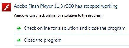 Solucionar problemas de Adobe Flash Player ha dejado de funcionar