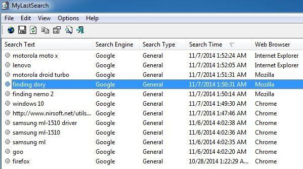 Vea rápidamente el historial de búsqueda en todos los navegadores de Windows