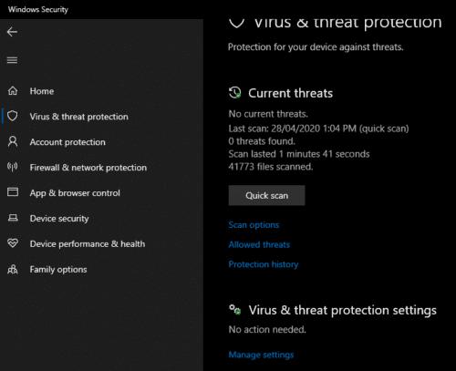 Windows 10: Cómo excluir un archivo de Windows Defender