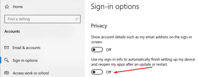 Windows 10: apague su cierre de sesión