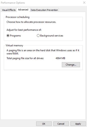 Windows 10: establezca la prioridad del procesador para preferir las aplicaciones en primer plano