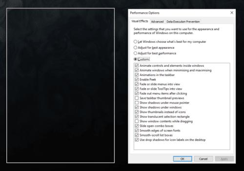 Windows 10: ocultar / mostrar el contenido de la ventana mientras se arrastra
