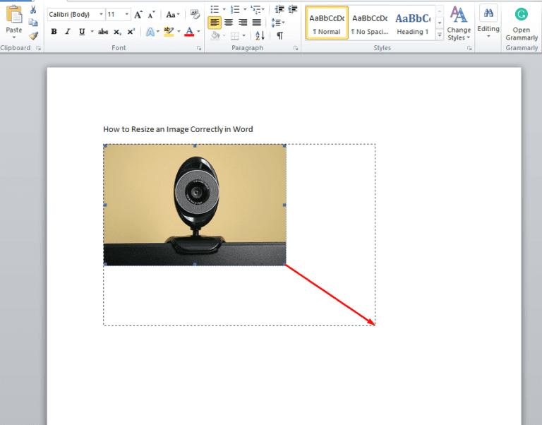 Word: cambiar el tamaño de las imágenes