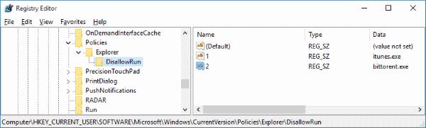 Bloquear el registro de aplicaciones de Windows
