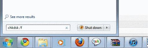 Ejecutando Chkdsk en Windows 7