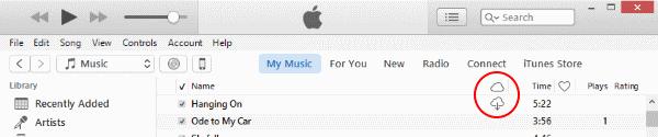 Ícono de música de iTunes iCloud