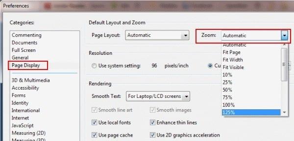 Adobe Reader: cambie la configuración de zoom predeterminada