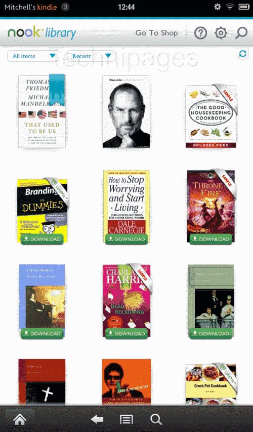 Amazon Kindle Fire: leer libros de Nook