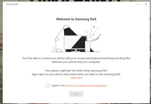 Android: acceso al modo Samsung DeX en Linux