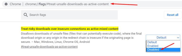 Chrome: este archivo no se puede descargar de forma segura