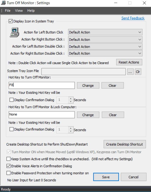 Cómo apagar el monitor con atajos de teclado