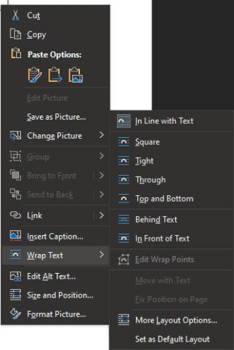 Cómo cambiar las opciones de ajuste de texto en Word