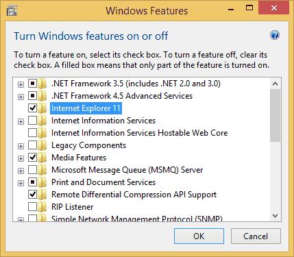 Cómo desinstalar IE11 de Windows 10