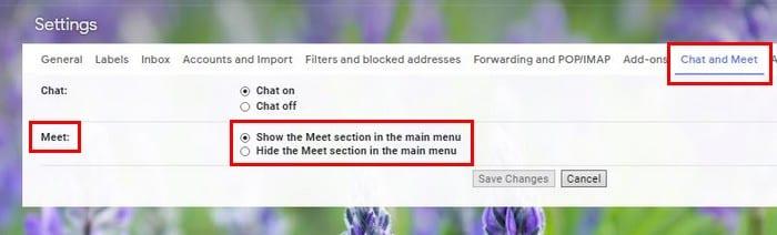 Cómo eliminar Google Meet de la barra lateral de Gmail