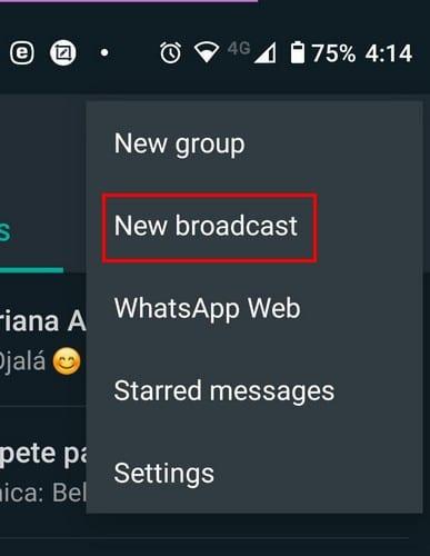 Cómo enviar un mensaje de difusión en WhatsApp