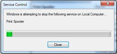 El servicio de cola de impresión de Windows no se inicia