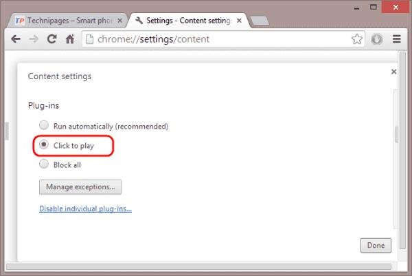 Evitar que los videos se reproduzcan automáticamente en Chrome