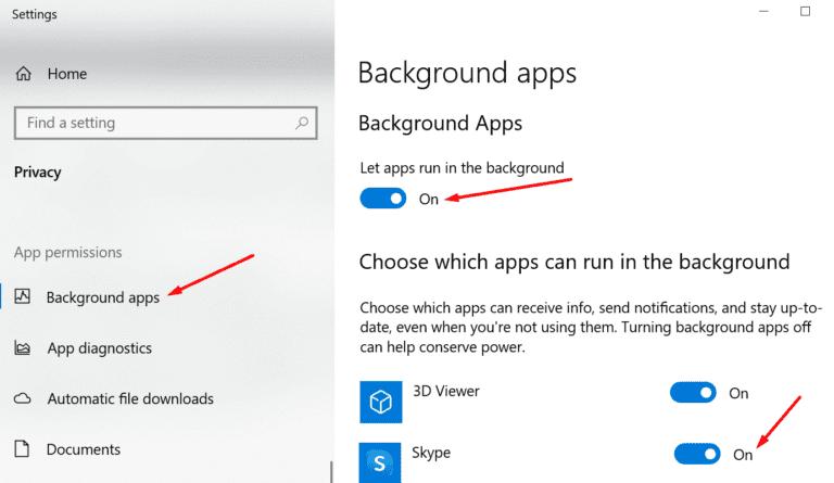 Reparar las notificaciones de Skype que no funcionan en Windows 10