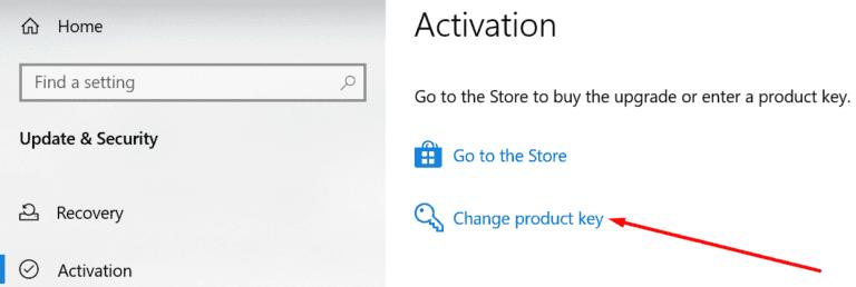 Solucionar el error de activación 0xC004F213 en Windows 10