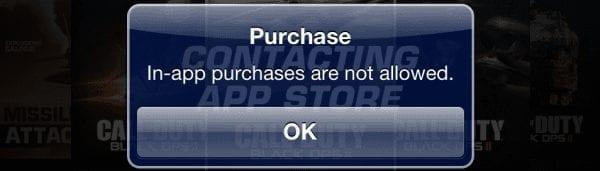 iPhone y iPad: corrección del mensaje «No se permiten compras a través de la aplicación»