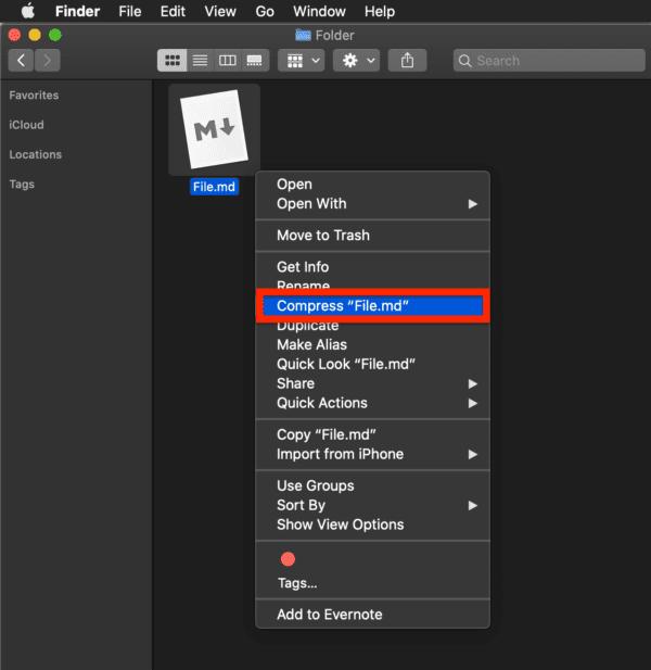 macOS: Cómo comprimir / descomprimir archivos