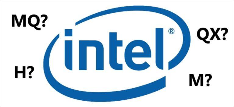 ¿Cuál es el significado de los sufijos del procesador Intel?