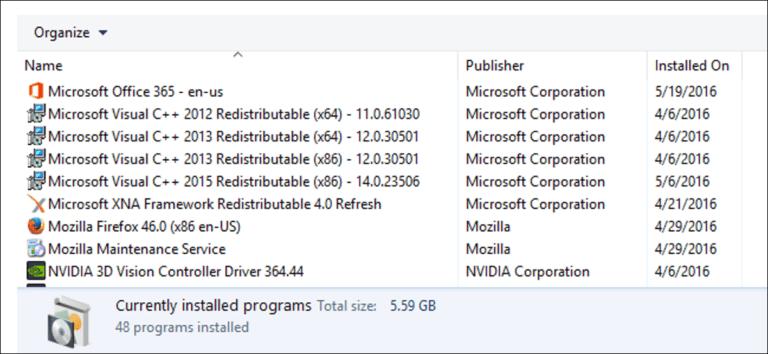 ¿Por qué hay tantos «Microsoft Visual C ++ Redistributables» instalados en mi PC?