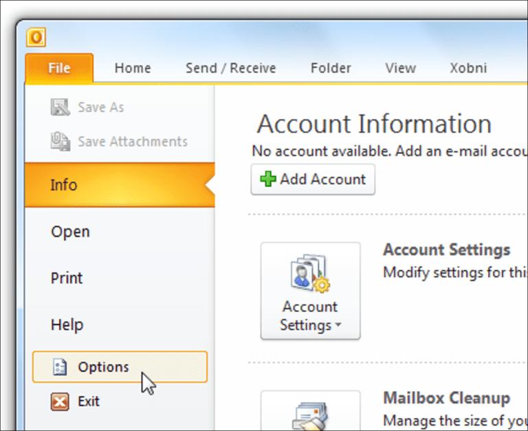 Cómo administrar el archivado automático en Outlook 2010