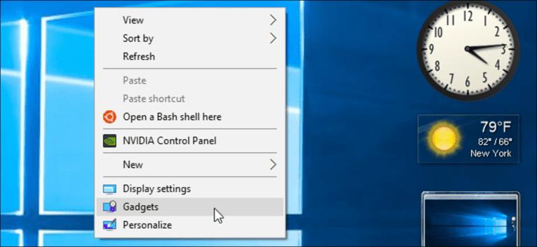 Cómo agregar gadgets a Windows 8 y 10 (y por qué probablemente no debería hacerlo)